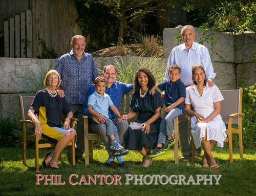 Backyard vs Front Porch – two great places for a family portrait