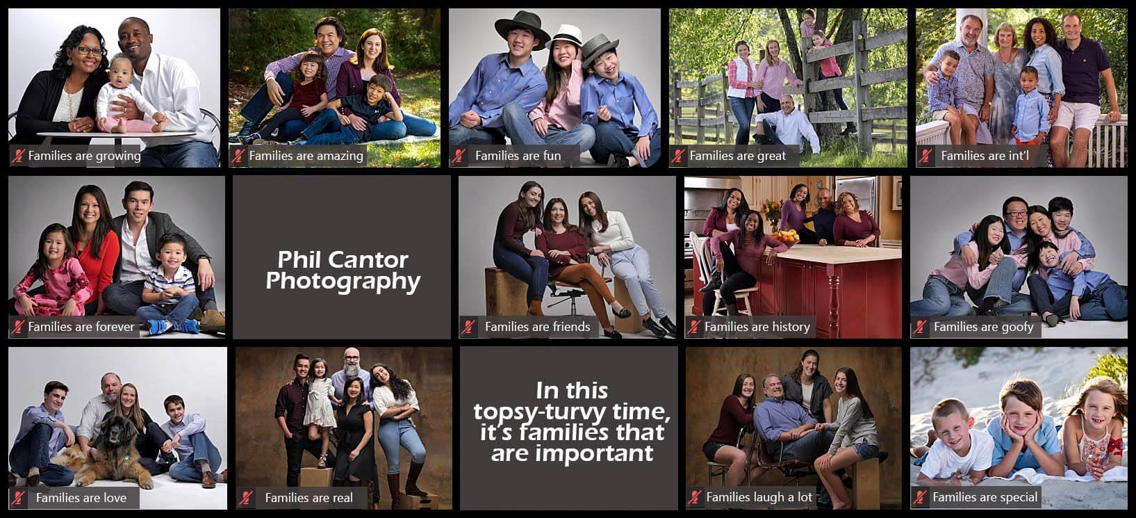 Family portraits are more important in critical times